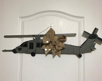 HH60 Helicopter Wooden Door Hanger