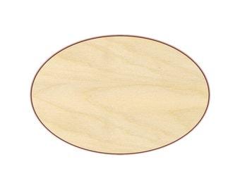 """Oval 8""""-14"""" - Wood Cutout  - 170123"""