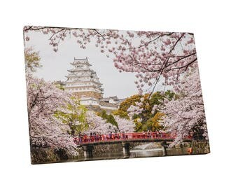 Castles and Cathedrals Japan Himeji Castle Gallery Wrapped Canvas Print