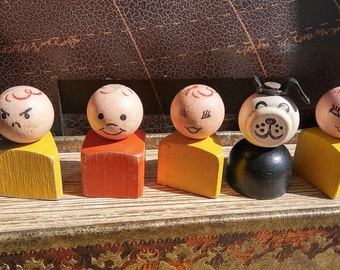 Vintage Fisher Price Block Little People