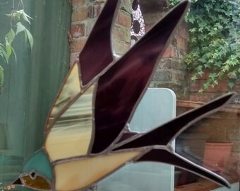 Swallow Stained Glass Light Catcher Made in England