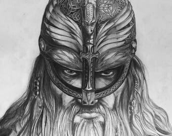 Viking Pencil Portrait