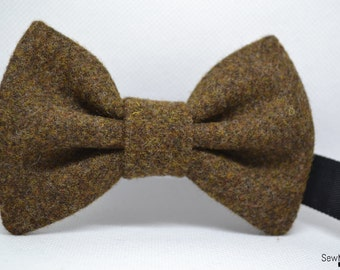 Wool Bow tie,Brown bow tie,  Men's bow tie, handmade accessory, Men's accessory, Handmade Bow tie, Men's accessories, Bowtie
