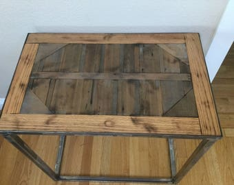 Rustic Modern End Table