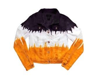 Black + Yellow/Gold Tie Dye Jacket