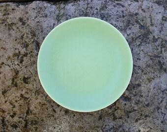 Scandinavian Vintage Höganäs Keramik Plate Swedish Vintage Light Green Salad Dessert Plate Hoganas Stoneware, Scandinavian Design