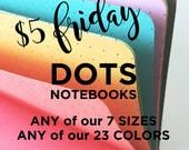 DOTS Traveler's Notebook Insert - Choice of 22 colors and 9 Sizes