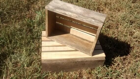 "Reclaimed Wood Crate, 10"" x 10"" x 4"" planter box, repurposed wood box, wood storage box, decorative box or centerpiece"