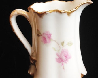 Haviland & Co. Pink Rose Creamer Pitcher