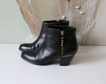 Women's Ankle Boots Black Hipster Ankle Boots 40/6,5/9