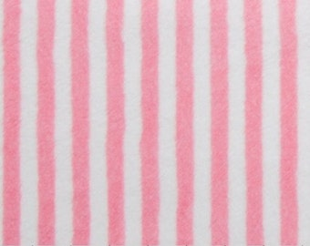 Medium Pink Paris Pink Stripe Minky All Sizes of Blankets Choose Color For Back