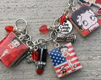 Betty Boop Charm Bracelet, Betty Boop Fan, Betty Boop Cartoon, I Love Betty Boop, Betty Boop Fan Jewelry