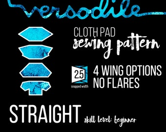 Wings ONLY Add-On | Straight |  Cloth Pad Sewing Patterns | 4 wing options | Interchangeable