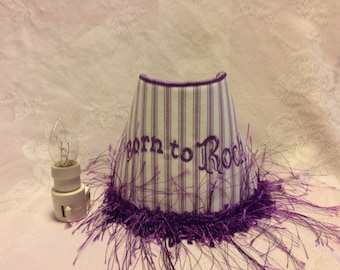Born To Rock Embroidered Night Light