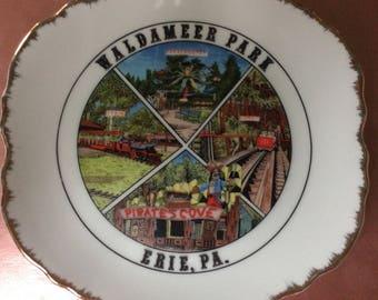 Vintage Souvenir Plate from Waldameer Park, Erie, PA