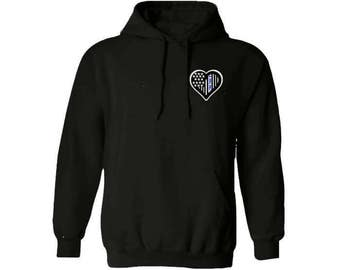 I got your six thin blue line hoodie, Back the blue hoodie, Blue lives matter hoodie
