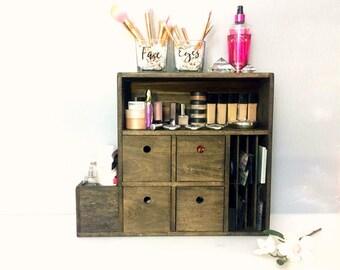 Table Top Makeup Organizer   Wall Mounted Makeup Shelf   Teen Girl Gifts    Beauty Gifts
