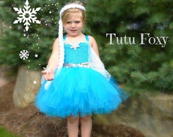 Elsa Tutu Dress, Elsa Costume, Frozen Costume, Snow Queen Costume, Princess Tutu Dress, Frozen Birthday, Princess Costume