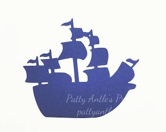 Pirate Ship Die Cuts, Ship Die Cuts, 6 Ct.