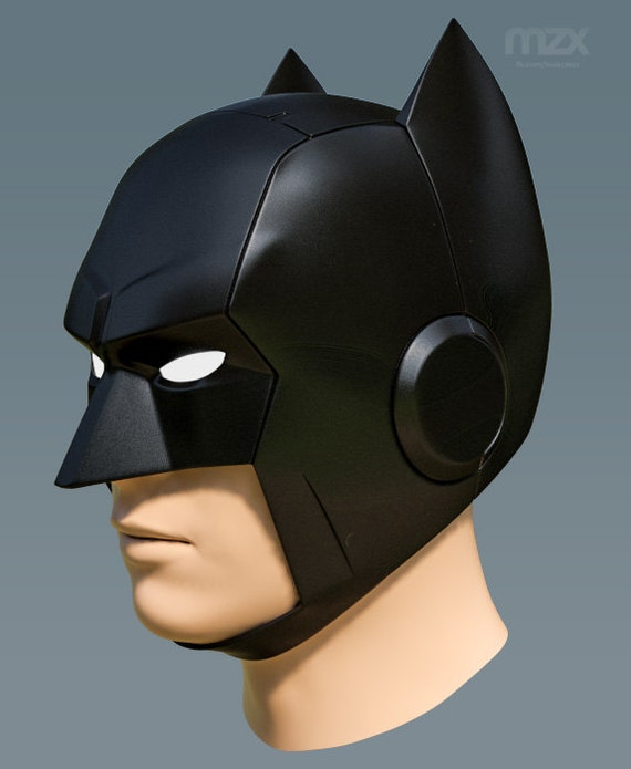 Telltale Batman Helmet Pepakura Pattern DIY From MaxCrft