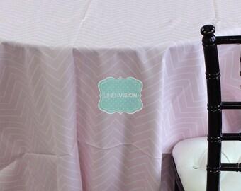 Tablecloth - Premier Prints - Chevron - Bella Pink - Choose Your Size - Table Linen Wedding Home Decor Dining Kitchen