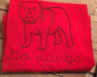 Custom made to order dawgs shirt