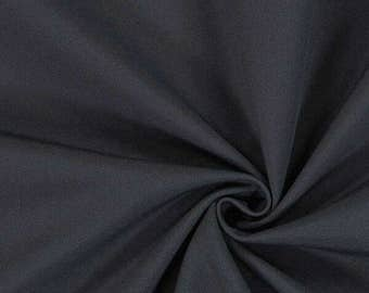 Italian Black melton wool fabric  ,material ideal for coats and suits.