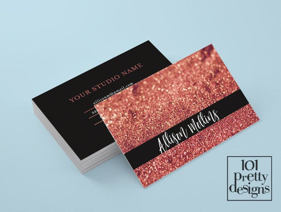 Rose gold glitter business card makeup artist business card design il570xn colourmoves