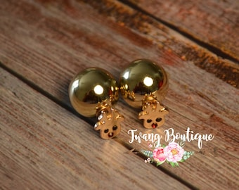 Rudolph Red Nose Earrings
