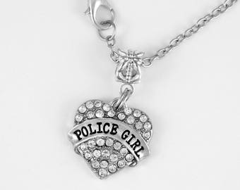 Police Wife Necklace Police Wife Jewelry Police Mom Cop Police Wife Officer Blue Line European Style Necklace