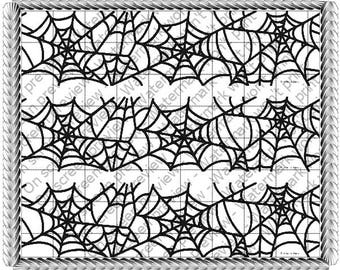 SPIDER WEB Edible Image Strips