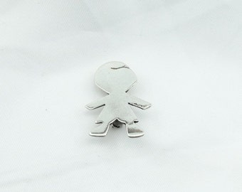 Small Child Sterling Silver Brooch/Pin  #ZINA-BR2