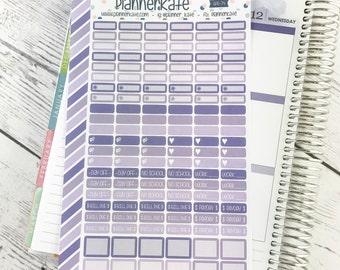 APR-74 || Mini Label Stickers for Planner - April EC Color Scheme (132 Removable Matte Stickers)