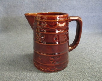 MarCrest Daisy Dot Brown Stoneware Small Pitcher Creamer