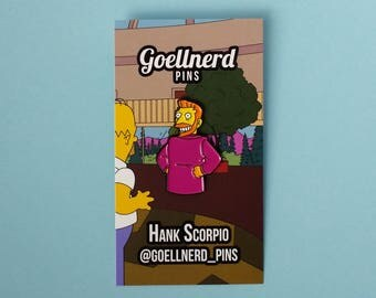 Simpsons Hank Scorpio Soft Enamel Pin 90s Gifts