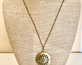 Gold Chain with Essential Oil Defuser Locket