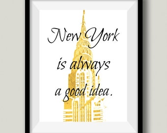 New York City Chrysler Building Printable Wall Art, Instant Download