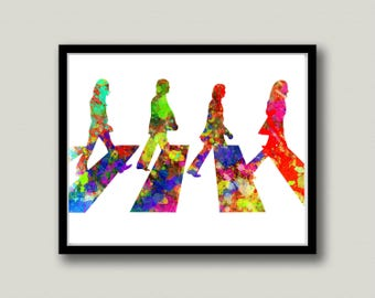 The Beatles Abbey Road Printable Art, Instant Download