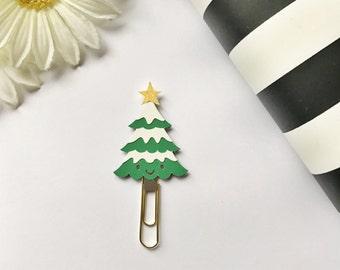 Christmas Tree Page Clip Planner Clip Bookmark FiloFax Erin Condren Day Planner Kikki K Plum Paper Planner Inkwell Press