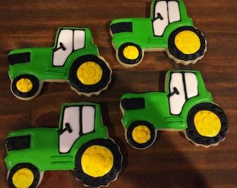 Tractor Cookies Etsy