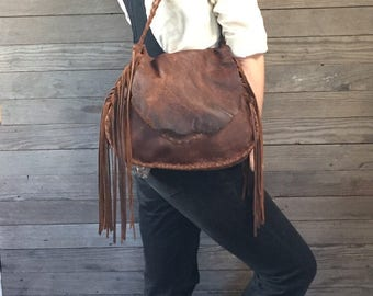 Distressed Leather Purse