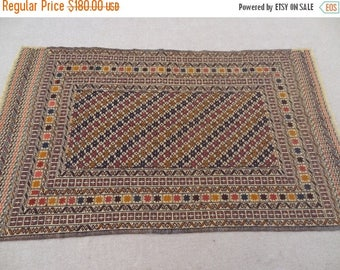 25%OFF SALE Size:6.7 ft by 4 ft Handmade Kilim Vintage Tribal  Afghan Suzani Kilim