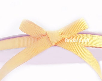 "Butter Yellow 1/4"" Grosgrain Ribbon 25 yards"