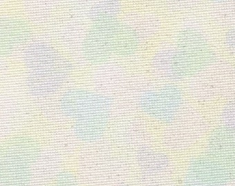Fabric Flair - Pastel Hearts 16 count Aida with sparkles.  Piece approx 45 x 50cm