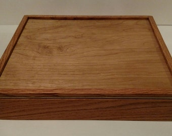 """Full Cover Hand-Crafted Dice Tray With Dice Storage, 13"""" X 12"""" beautiful"""