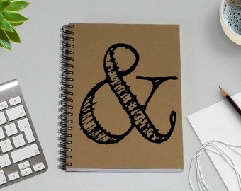 Journal, Notebook, Ampersand - 5 x 7 Journal, Scrapbook, Diary