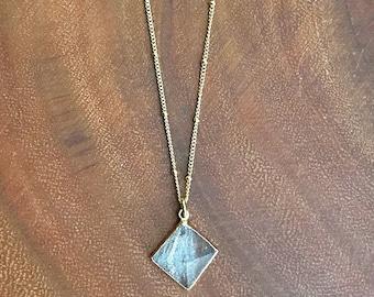 Pyramid Necklace // Quartz Pyramid Necklace // Crystal Pyramid Necklace // Large Pyramid Necklace // Clear Quartz Pyramid necklace