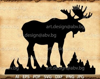 Vector MOOSE, AI, eps, pdf, svg, dxf, png, jpg Download files, Digital, graphical, discount coupons