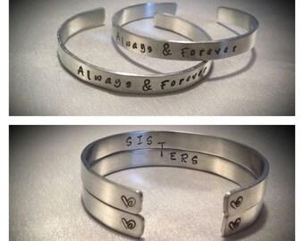 Sister Gift, Bracelet Set, Custom Bracelet,Sister Jewelry, Sister Bracelet, Friend Bracelet, Best Friend Gift,Pair Bracelets