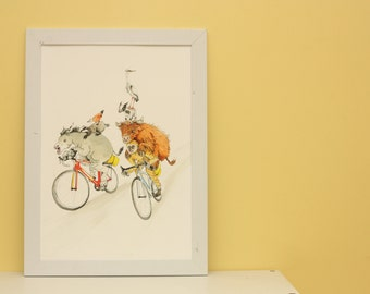 The Cycle Adventure. A3 Fine Art Print.